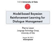 Model-based Bayesian Reinforcement Learning for Dialogue ...