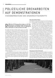 POLIZEILICHE DREHARBEITEN AUF DEMONSTRATIONEN - Forum Recht