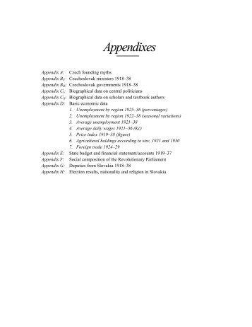 Appendixes A-D