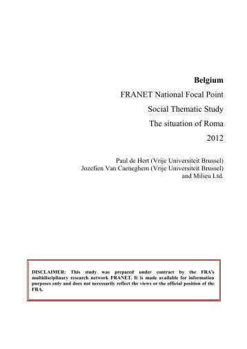 Belgium - European Union Agency for Fundamental Rights - Europa