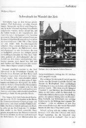 Aufsätze Schwabach im Wandel der Zeit
