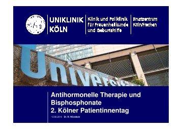 Antihormonelle Therapie und Bisphosphonate; 2. Kölner Patiententag