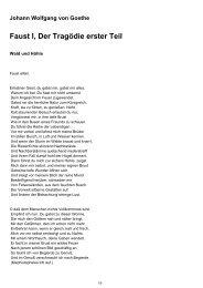 Faust I, Der Tragödie erster Teil