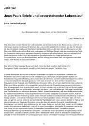 'Jean Pauls Briefe und bevorstehender Lebenslauf' als PDF ...