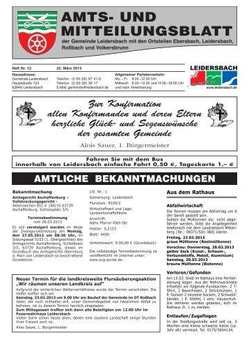 Amts- und Mitteilungsblatt 2013_03_22 - Leidersbach
