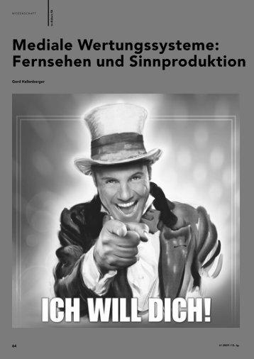 Mediale Wertungssysteme: Fernsehen und Sinnproduktion - FSF
