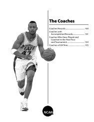 2010 NCAA Men's Final Four Records (The Coaches)
