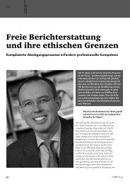 Freie Berichterstattung und ihre ethischen Grenzen - FSF