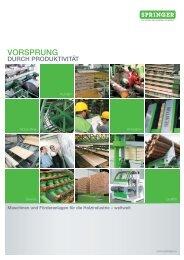 VORSPRUNG - Springer Maschinenfabrik AG