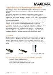 1 Modular System Dual SCM MPIO Software Installation - MaxData