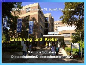 Ernährung und Krebs - Brüderkrankenhaus Trier