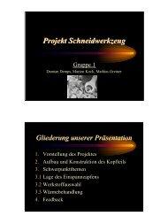 Projektpraesentation Gruppe 1