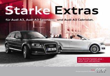 für Audi A3, Audi A3 Sportback und Audi A3 Cabriolet.