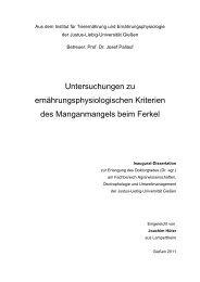 Untersuchungen zu ernährungsphysiologischen Kriterien des ...