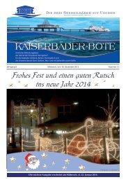 Frohe Weihnachten - Gemeinde Ostseebad Heringsdorf