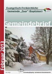 Gemeindebrief Februar 2013 - Evangelisch-Freikirchlichen ...