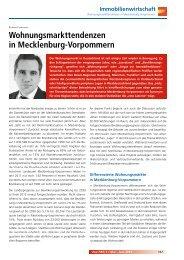 Wohnungsmarkttendenzen in Mecklenburg-Vorpommern - VHW
