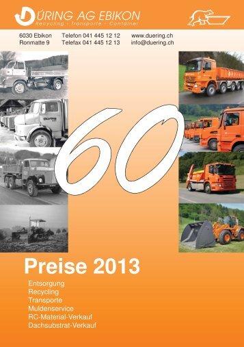 Preise 2013 - Düring AG