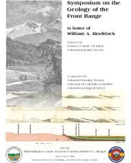 Symposium on the Geology of the Front Range - Colorado ...