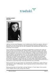 MIMOZA AHMETI Albanien 1963 als Tochter eines ... - Traduki