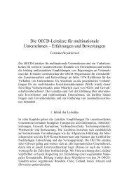 Die OECD-Leitsätze für multinationale Unternehmen ... - Germanwatch
