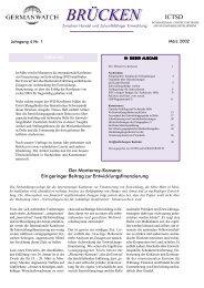 März 2002 | Jahrgang 4, Nr. 1 - Germanwatch