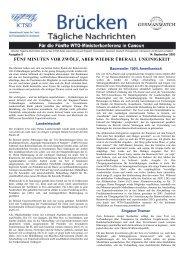 Tägliche Nachrichten von der WTO ... - Germanwatch