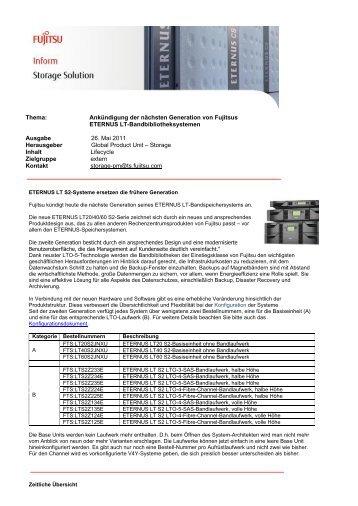 Template EMEA Bulletin Storage - Fujitsu