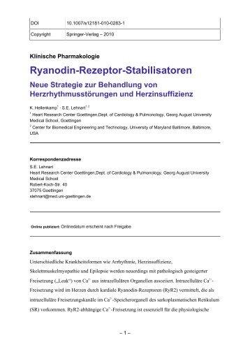 Ryanodin-Rezeptor-Stabilisatoren