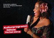 Kulturprogramm Götzis Herbst 2013 - Marktgemeinde Götzis