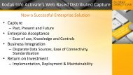 kodak info activate's web based distributed capture - now a ...