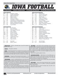 @HawkeyeFootball Game Notes Game #3 at Iowa State