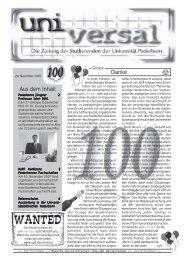 universal 100 - Universität Paderborn