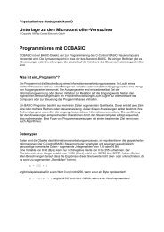 Anleitung zu CCBASIC