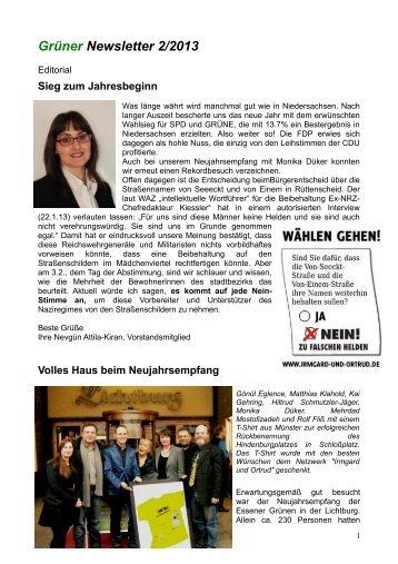 Newsletter Februar 2013 - Die Grünen Essen
