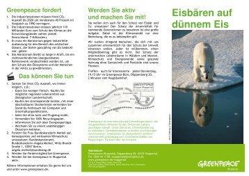 Leporello Eisbär 2010_3 - Greenpeace Gruppen in Deutschland