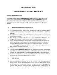 Die Business-Tester - Aktion #05 - HP - Hewlett Packard
