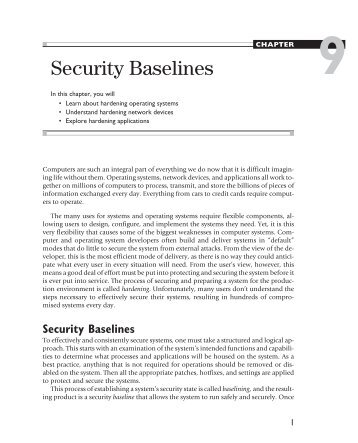 Chapter 9: Security Baselines - ITwelzel.biz