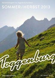 sommer / Herbst 2013 - Toggenburg Tourismus