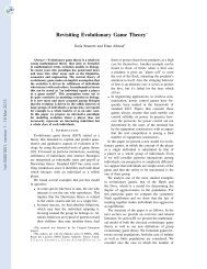 Revisiting Evolutionary Game Theory