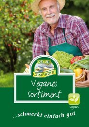 veganen Sprtimentsbroschüre. - Natur Compagnie