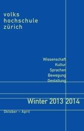 Winter 2013 2014 - Volkshochschule des Kantons Zürich