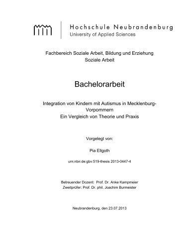 Bachelorarbeit - Digitale Bibliothek NB - Hochschule Neubrandenburg