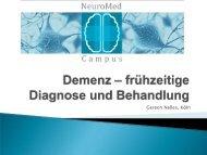 Demenz - frühzeitige Diagnose und Behandlung