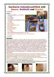 Barbarie Entenbrustfilet mit Sauce, Rotkohl und Knödel