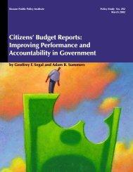 Citizens' Budget Reports: Improving ... - Heartland Institute