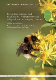 Ecosystem services and livelihoods - European Commission