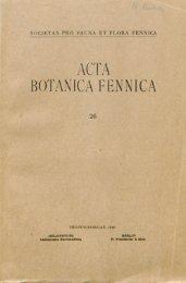 ACTA BOTANICA FENNICA - Helda
