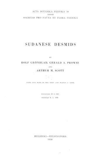 SUDANESE DESMIDS - Helda