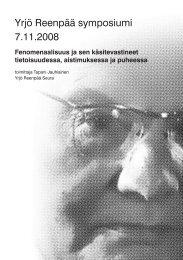 Yrjö Reenpää symposiumi 7.11.2008 - Helda